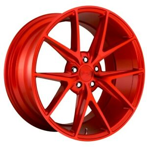 19x8 5 M186 Niche Misano Gloss Red Wheels 5x4 5 33mm Set Of 4