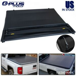 4 fold Lock Tonneau Cover For 2007 2013 Chevy Silverado Gmc Sierra 8ft Long Bed