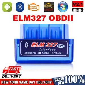 Car Bluetooth Obd2 Scanner Code Reader Automotive 2020 New Tool Obdii Elm 327