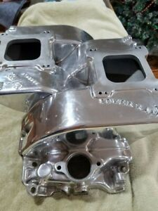 Vintage Mickey Thompson Power Ram Big Block Chevy Dual Quad Rat Rod Intake