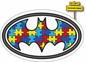 Autism Batman Decal Sticker 3 25 X 5 20 Support Autistic Free Shipping P422