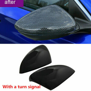 Carbon Fiber Style Rearview Side Mirror Trim Cover For Honda Accord 2018 2019