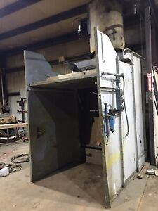 Binks Open Face Spray Paint Booth 66 Wide 81 tall 60 deep 5 Hp