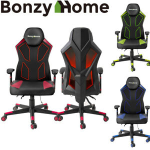 Office Gaming Chair High Back Leather 360 Swivel Rocker Racing Seat Desk Chair
