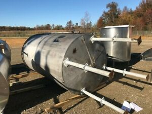 2000 Gallon Stainless Steel Liquid Mix Tank Flat Top And Cone Bottom