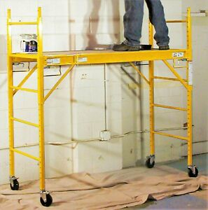 Pro Series 6 Ft Multipurpose Construction Scaffolding Out indoor Rolling Ladder