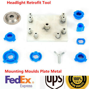 Headlight Retrofit Tool Mounting Moulds Plate Metal For Hella Projector Lens Usa
