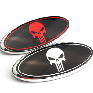 9 Inch The Punisher Front Grille Hood Oval Emblem Nameplate For Ford F150