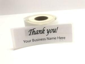 Custom Thank You Labels 2 5 X 4 Personalized Custom Business Logo Labels