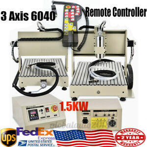 1 5kw 3axis Usb 6040 Cnc Router Desktop Engraving Milling Carving Machine 3d