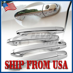 Us Abs Chrome Door Handle Cover Fit 2012 2013 2014 2015 Honda Civic 4dr Crv Fm