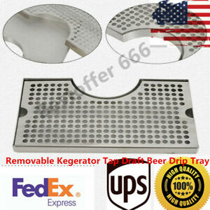 Stainless 304 Steel Polished Removable Kegerator Tap Draft Beer Drip Tray Top