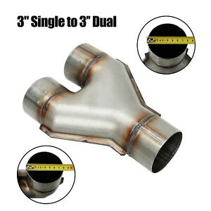 Stainless Steel Exhaust Reversible Y Pipe 3 Single To 3 Dual Adapter Connector