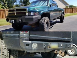 Dodge Ram 2500 3500 Front Rear Bumpers Set Of 2 Weld Up Kits 1994 2001