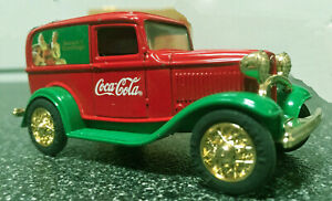 COCA-COLA CHRISTMAS 1932 FORD Panel Delivery Truck in Decorative Wooden Box