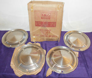 1960 Ford Falcon Edsel B New Old Stock 13 Nos Wheel Covers Hub Caps Set Of 4