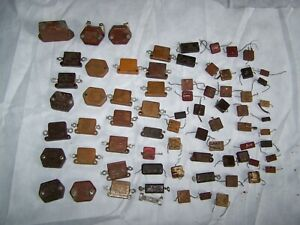 70pc Lot Mixed Vintage Mica Capacitors Cornell dubilier Usa Tube Amp
