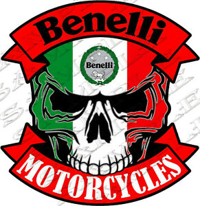 612 skull Benelli Motorcycles Size 7 48 x7 71 Inch Car Sticker Tuning Racing