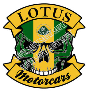617 skull Lotus Motorcars Size 7 48 x7 71 Inch Car Sticker Tuning Racing Livery