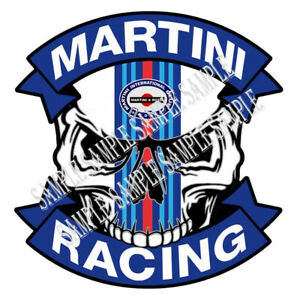 621 skull Martini Racing Size 7 48 x7 71 Inch Car Sticker Tuning Livery Colors