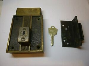 Vintage Deco National Lock Dead Bolt Door Lock Working 1970
