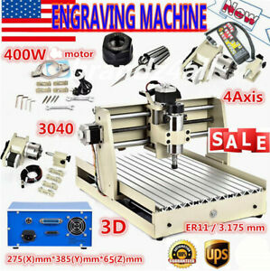 Usb 400w 4 Axis Cnc 3040t Wood Router 3d Engraver Engraving Machine Controller