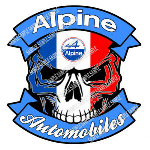 616 skull Alpine Automobiles Size 7 48 x7 71 Car Sticker Tuning Racing Livery