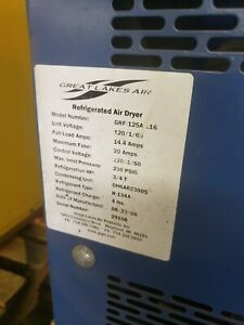 Great Lakes Air Erf 125a 116 Refrigerated Air Dryer