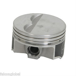 Speed Pro trw Chevy 350 5 7 Forged Flat Top 2vr Pistons Set 8 Float 030 W rings