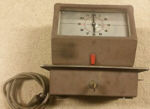 Simplex Time Clock Recorder Model Lcp14l4 Not Working c7