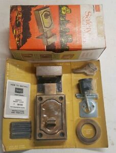 Vtg Sears Craftsman 1970 National Lock Dead Bolt Door Lock Nos Antique Brass