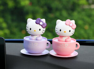 Pink Hello Kitty Moving Head Solar Car Decoration Us Sell