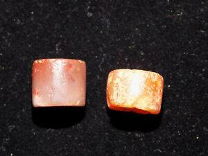 Pre Columbian Pair Of Round Stone Agate Beads 2