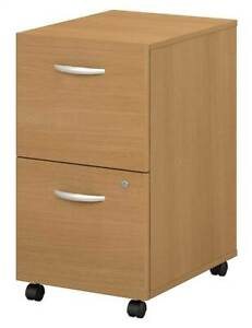 Light Oak Rolling File Cabinet Series C id 2513