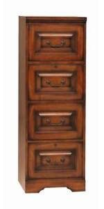 Country Cherry File Cabinet W Four Drawers id 30508