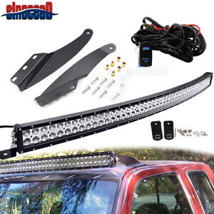 For Chevy Gmc 1989 1998 52 Curved Light Bar Upper Roof Mounting Installing Kit