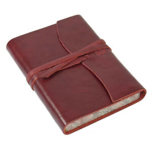 Papuro Roma Leather Journal Red Small