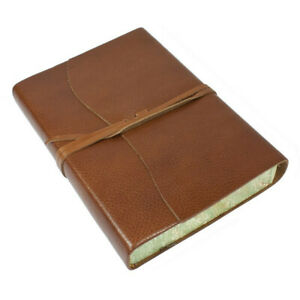 Papuro Roma Leather Journal Brown Large