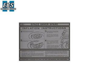 1969 1970 Mustang Ford Mercury Space Saver Instructions Decal Factory Exact