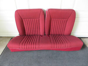 1992 1993 Ford Mustang Hatchback Rear Seat Oem Factory Ford Ruby Red Original