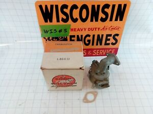 Wisconsin Engine New Old Stock Carburetor Assembly L80ks1 Free S