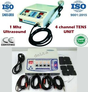 Ultrasound Therapy Electrotherapy Combination Therapy Sticky Pads 4 Ch Pulser