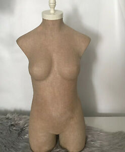 Store Display Mannequin Body Dress Form Torso No Stand Plus Size Vintage