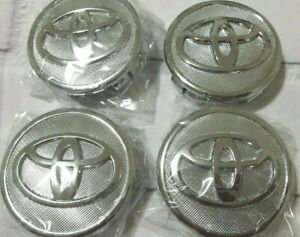 Set Of 4 Genuine Toyota Replacement Center Wheel Caps 42603 53110 Frosted