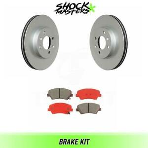 Front Semi Metalic Brake Pads Coated Rotor Kit For 2012 2016 Rio Fwd