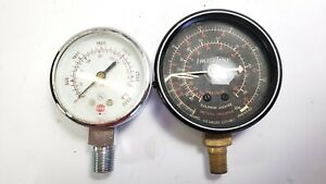 Vintage Usg U s Gauge Frost Line Pressure Meter Metal Steam Punk Dial Lot Of 2
