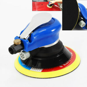 6 air Palm Random Orbital Sander Dual Action Pneumatic Polisher Speed Adjustable