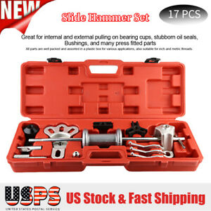 17pcs Universal 10 Way Slide Hammer Set Bearing Puller Internal Extractor Set