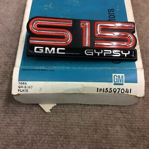 Nos Gm Very Rare 1985 1989 Gmc S15 Sierra Gypsy Side Emblem Logo Badge 15597041
