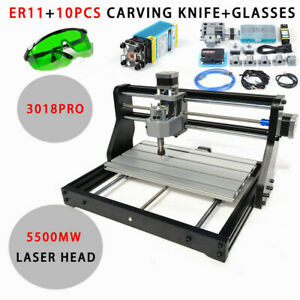 3018pro Cnc Router 5 5w Laser Module Carving Milling Engraving Drilling Machine